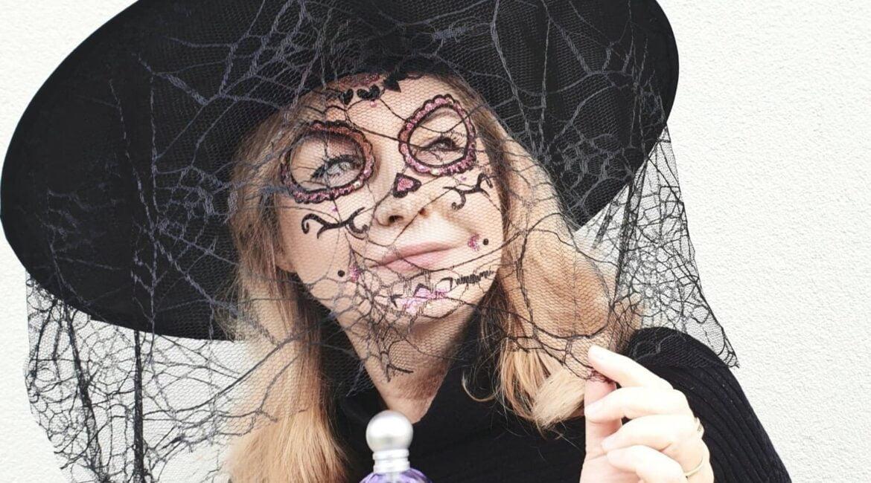 przebranie czarownicy na halloween z zapachem del pozo