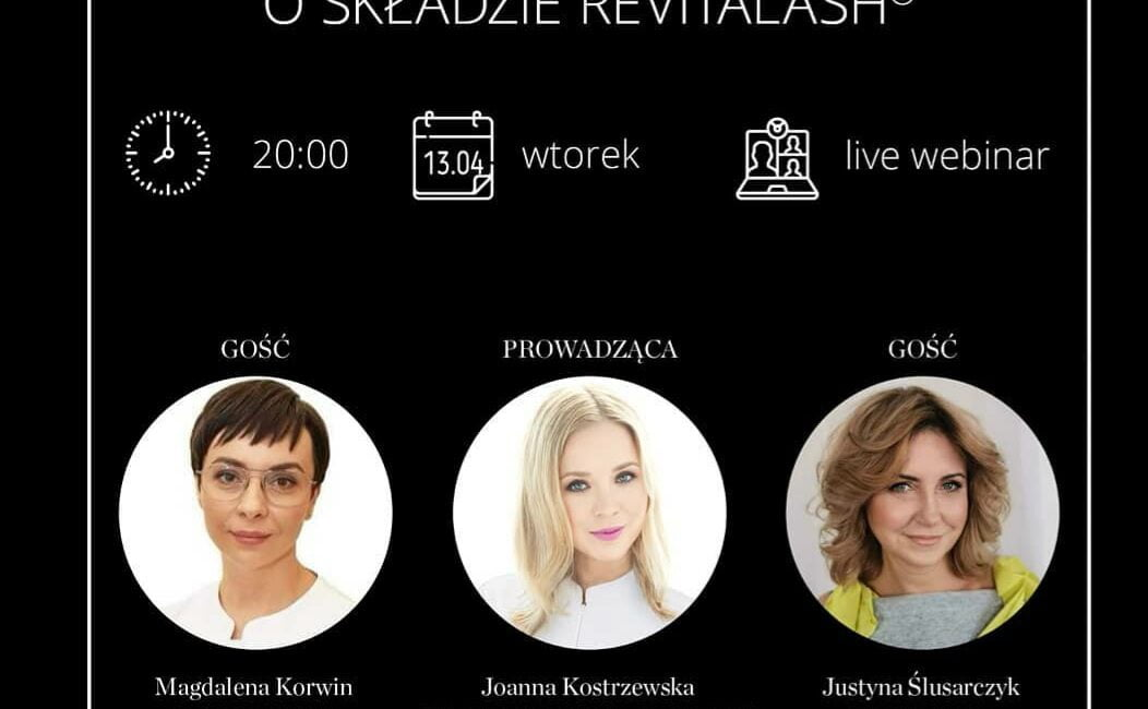 zaproszenie na webinar Revitalash